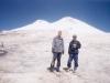 Przed wejściem na Elbrus, od lewej Piotr Słomski i Bartek Wróblewski, 25 VIII 1998