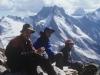 Na szczycie Wia-Tau, od lewej Martin Kuehnl, prawd. Oleg i Tanja, 21 VIII 1998