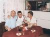Piotr Słomski z Nikołajem Stiepanowiczem i jego kolegą, Kamieniec Podolski 7 VIII 1998