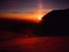 Zachód słońca w czasie zejścia z Przełęczy Denali do 17-tki, 13 VI 2008
