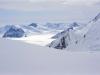Widok z drogi powrotnej na lodowiec Kahiltna, 15 VI 2008